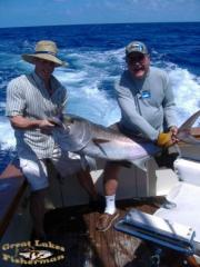 Nice catch of dolphin and amberjack, we limited on AJ's, 5 and threw 1 back, then got 13 more dolphin, total of 18 legal fish kept. Great day of action.