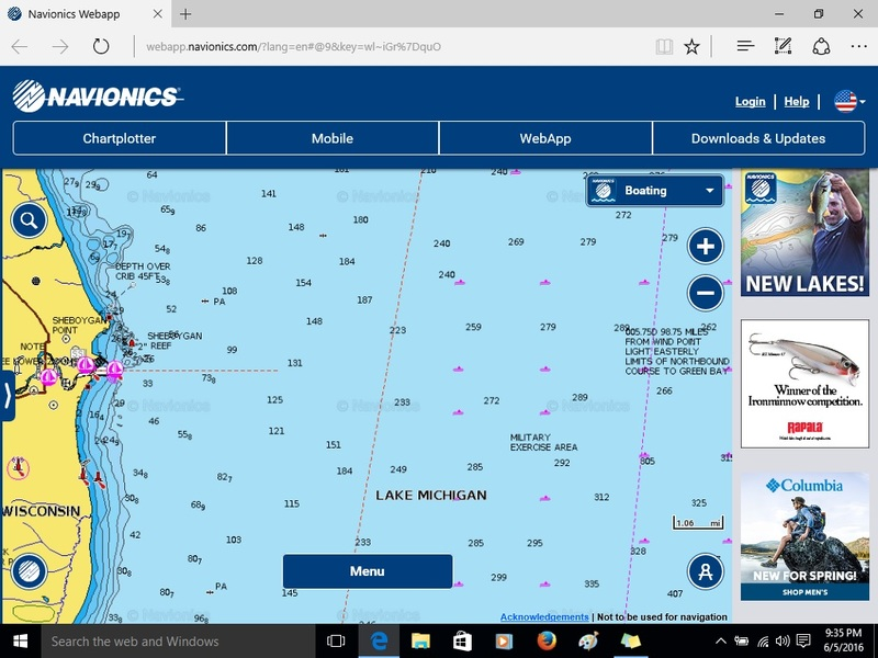 Sold closed chartplotter classifieds buy sell for Navionics fishing app