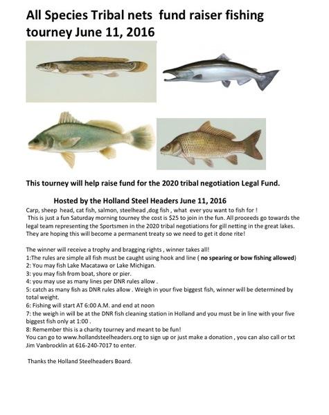 Holland steelheaders all species fund raiser tournaments for Lake erie fish species