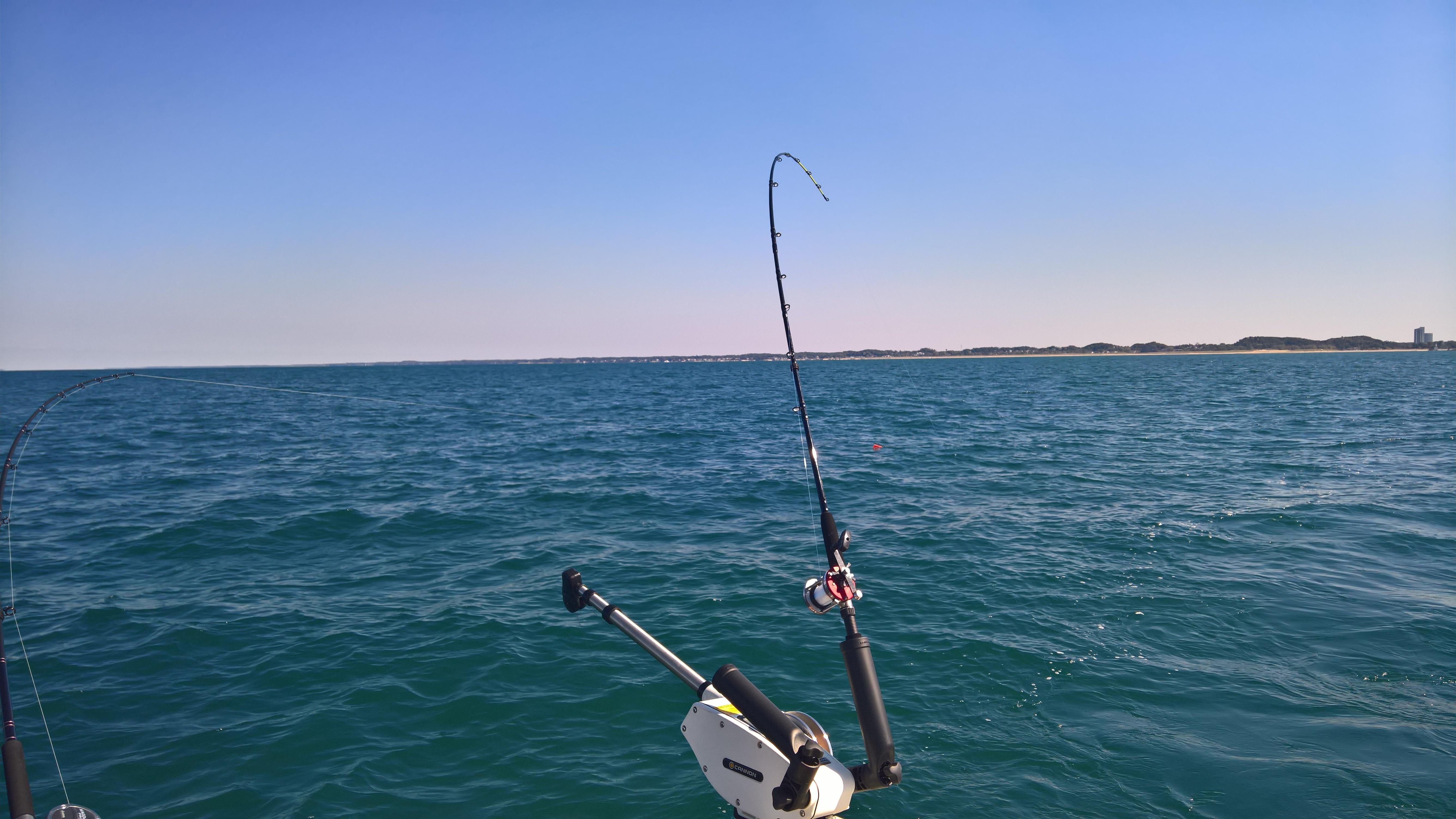 Scoffer great lakes fisherman trout salmon walleye for Fishing lake michigan