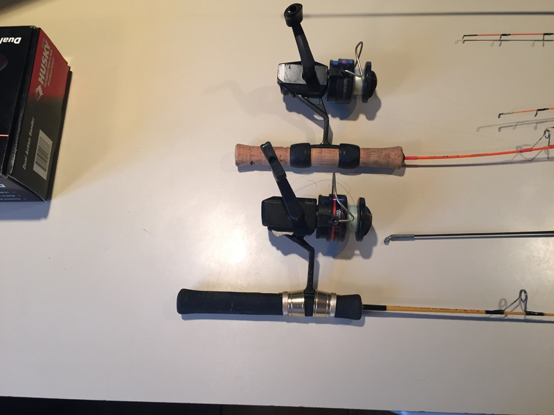Sold closed ice fishing equipment classifieds buy for Fishing equipment rental