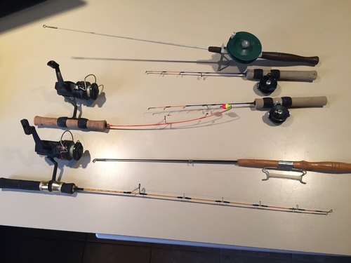 Sold closed ice fishing equipment classifieds buy for Rent fishing gear